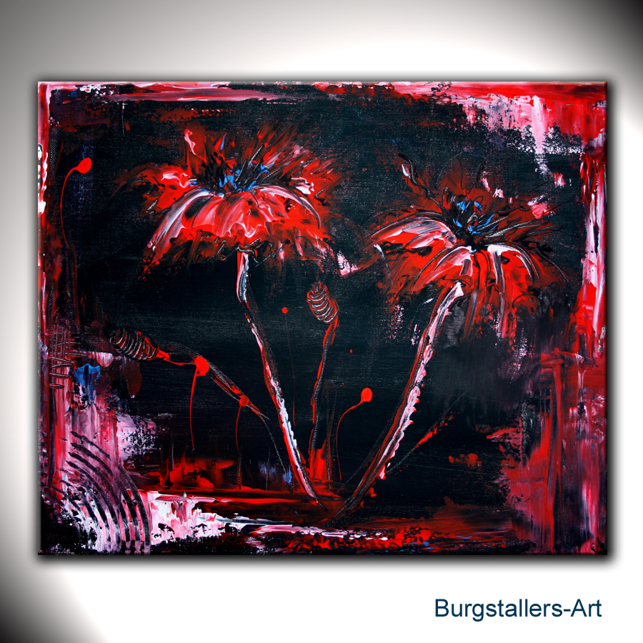 burgstaller abstrakt acrylbild original bilder modern malerei kunst blumen tanz ebay. Black Bedroom Furniture Sets. Home Design Ideas