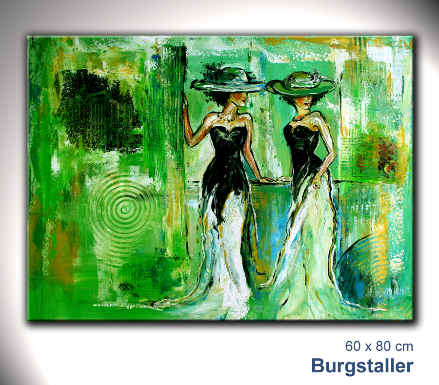 burgstaller abstrakt gem lde original bild kunst malerei unikat frauen gefl ster ebay. Black Bedroom Furniture Sets. Home Design Ideas